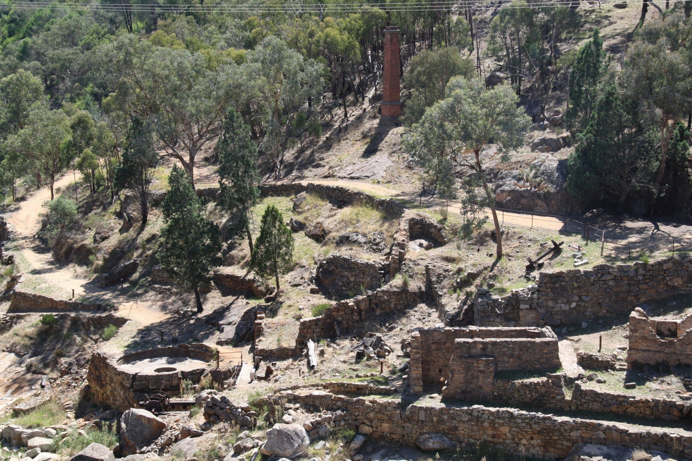 Adelong Falls Gold Mill Ruins - Kingaroy Accommodation