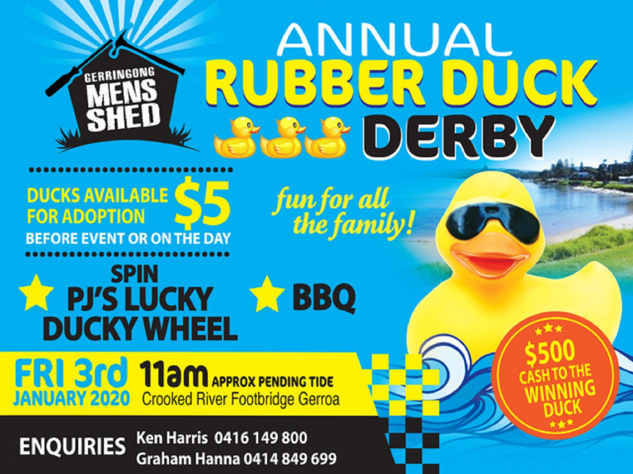Gerringong Mens Shed Annual Duck Derby - Kingaroy Accommodation